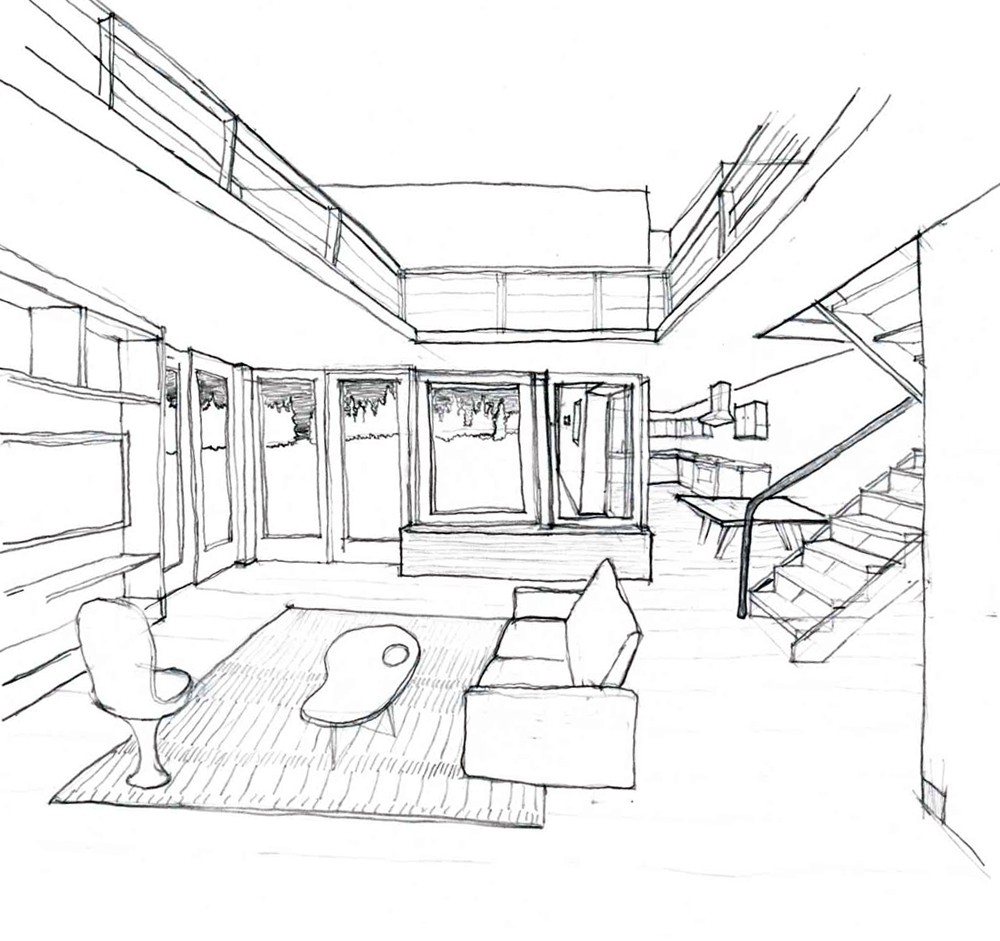 Interior sketch cap alumni blog for Interior designs sketches